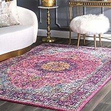 nuLOOM Area Rug, Pink, 152 cm x 226 cm