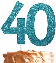 Number 40 Cake Topper Large 40th Birthday Cake
