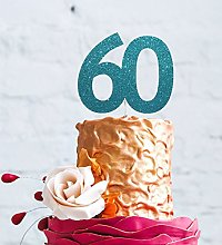 Number 60 Cake Topper Large - 60th Birthday Cake