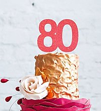 Number 80 Cake Topper Large - 80th Birthday Cake