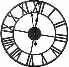 Numeral Open Face Metal Clock, Roman Numerals Iron