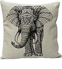 Nunubee Animal Cotton Linen Cushions Cover Sofa