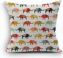 Nunubee Animal Cushion Cover Bed Pillowcase Soft