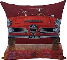 Nunubee Animal Cushion Cover Square Cotton Linen
