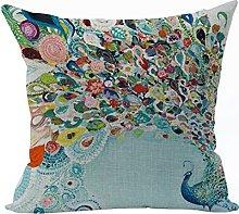 Nunubee Animal Home Pillowcase Cotton Linen Pillow