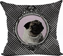 Nunubee Cotton Linen Animal Cushion Cover Home