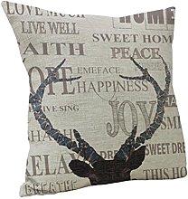 Nunubee Cute Animal Square Decorative Pillowcase