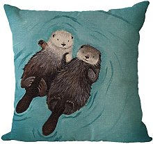 Nunubee Otter Cotton and Linen Shabby Chic Animal