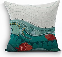 Nunubee Sea Animal Cushion Cover Throw Pillowcase