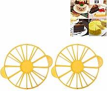 NUOBABY 2 pieces cake divider round cake slicer