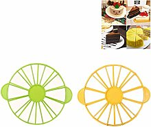 NUOBABY 2 pieces round cake divider slice cake
