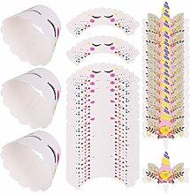 NUOBESTY 120Pcs Unicorn Cupcake Cups Unicorn