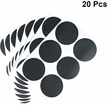 NUOBESTY 20 Sheets Chalkboard Labels Round Sealing