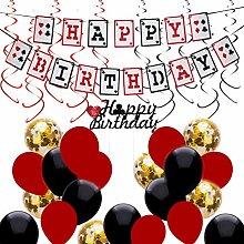 NUOBESTY 38pcs Casino Birthday Party Decorations