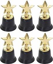 NUOBESTY 6pcs Star Gold Award Trophy Gold Star