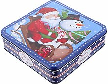 NUOBESTY Christmas Tinplate Gift Box Santa Claus