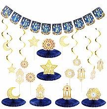 NUOBESTY Ramadan Mubarak Party Decoration Supplies