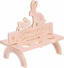 NUOBESTY Wooden Egg Cup Holder Stand Easter Bunny