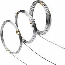 nuoshen Craft Wire, 15 Meters Silver Aluminum