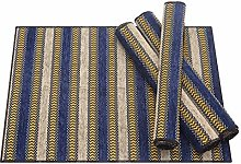 Nupuyai Vintage Non-Slip Stripe Placemat for
