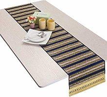Nupuyai Vintage Stripe Table Runner for Home