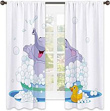 Nursery 99% blackout curtain, Takes Bubble Bath in