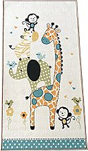 Nursery Animals Rugs Area Carpet Polyester Anti