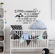 Nursery Bible Wall Decals Joshua 1:9 Be Strong and