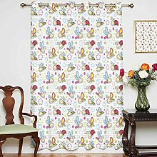 Nursery Blackout Curtain Adorable Bugs with