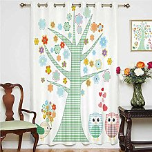 Nursery Blackout Curtain Romantic Owls In Love and