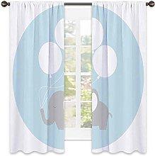 Nursery Decor Blackout curtain, Little Baby with