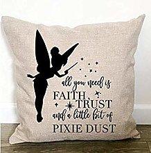 Nursery Decor Throw Pillow - Tinkerbell Throw