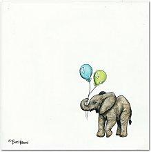 Nursery Elephant by Britt Hallowell Art Print