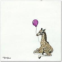 Nursery Giraffe by Britt Hallowell Art  Print