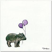 Nursery Hippo by Britt Hallowell Art Print