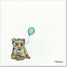 Nursery Lion by Britt Hallowell Art Print