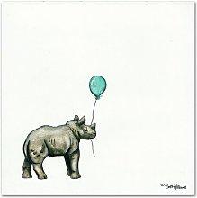 Nursery Rhino by Britt Hallowell Art Print