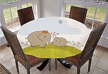 Nursery Round Tablecloth,Baby Shower Inspired with