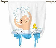 Nursery Tie Up Curtain Panels,Baby Boy with Having
