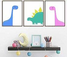Nursery Wall Art Dinosaurs Print Baby Boy Art