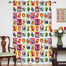 Nursery Window Curtain Big Colorful Set with