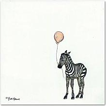 Nursery Zebra' by Britt Hallowell Art Print