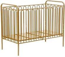 Nutkin Vintage Metal Baby Cot Bed In Gold