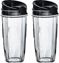 Nutri Ninja 32 oz Tritan Cups with Sip & Seal