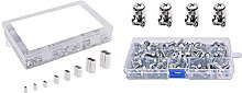 -Nuts M6 Square Hole Nuts and Mounting Screws
