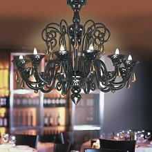 Nuvola 12 Light Candle Chandelier Voltolina
