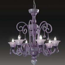 Nuvola 6 Light Candle Chandelier Voltolina