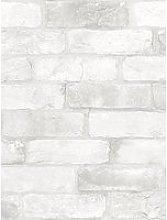 Nuwallpaper Loft White Brick Stick On Wallpaper