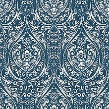NuWallpaper NU1689 Bohemian Damask Indigo, Blue