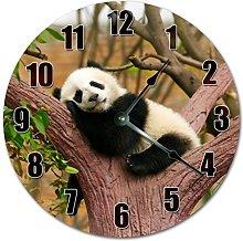 NVBFH43545 Adorable Sleeping Panda On Tree Wooden